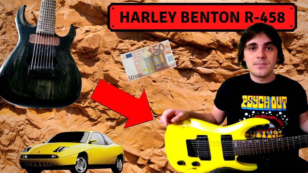 Ho trovato una chitarra 8 corde a 50€! E l'ho rifatta giallo COUPE' FIAT (Harley Benton)