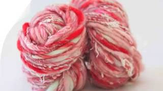 Spinning thick and thin art yarn