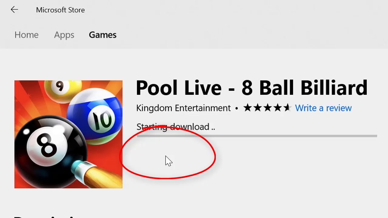 windows 10 pool game