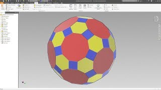 Truncated Icosidodecahedron - Autodesk Inventor