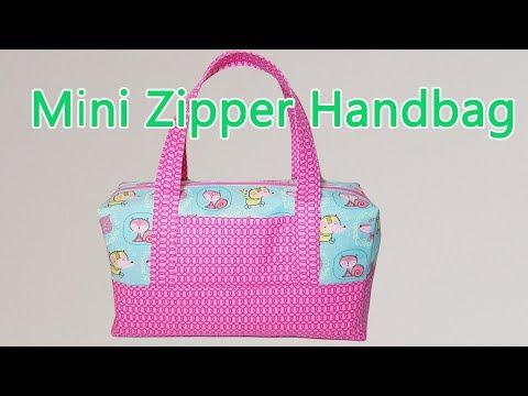 DIY MINI ZIPPER HANDBAG   BOX BAG TUTORIAL   BAG MAKING   Coudre un sac   Bolsa diy