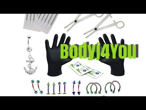 How To Use Bodyj4You Body Piercing Kit From Amazon The Wrong And Right Way  Piercing My Tragus
