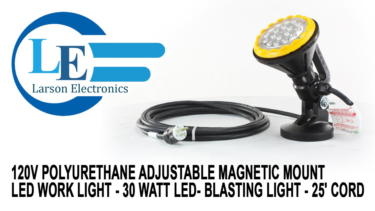 120V Polyurethane Adjustable Magnetic Mount LED Work Light ...