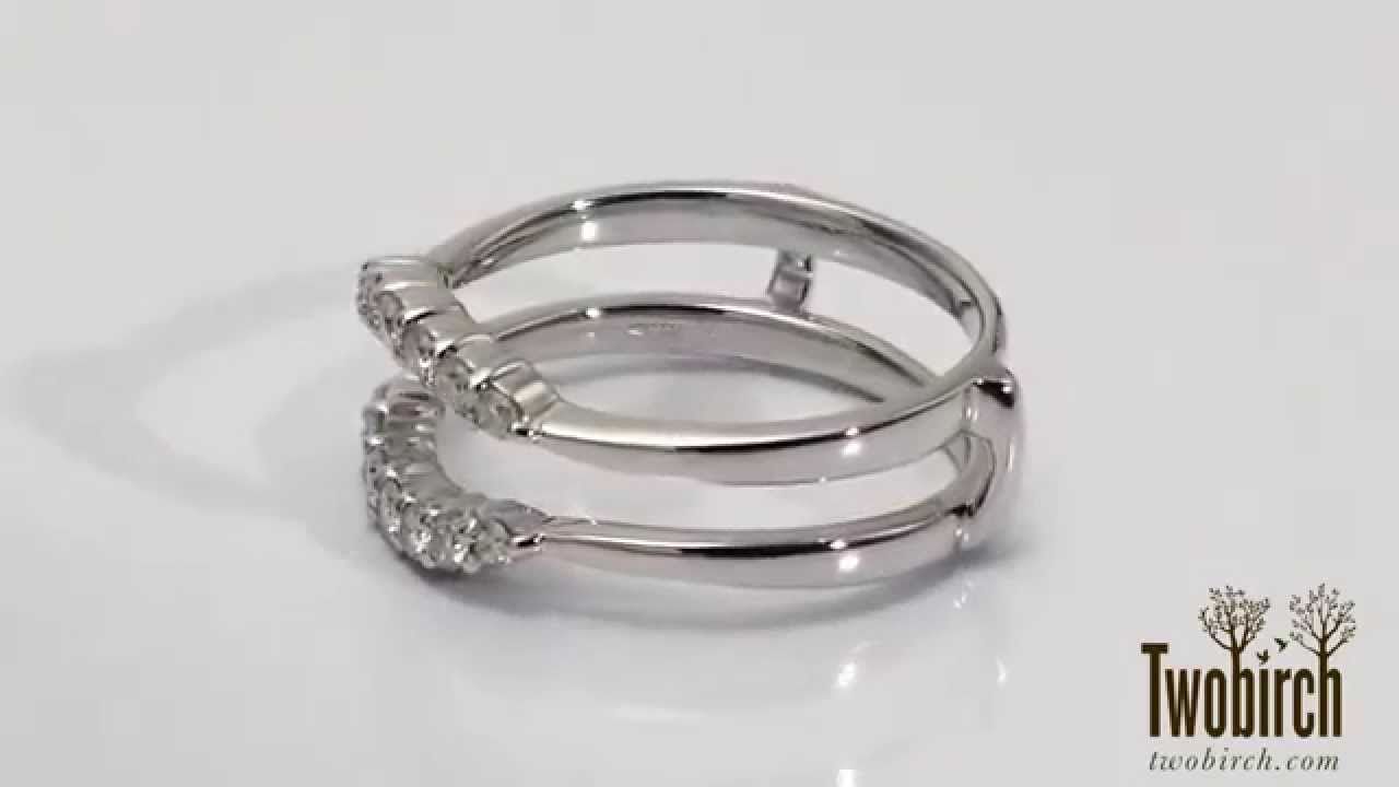 Nothing says forever like this beautiful Curved Wedding Ring Guard