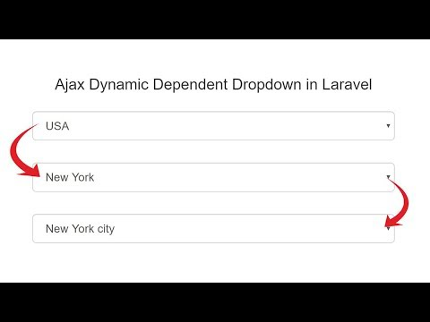 Laravel Dynamic Dependent Dropdown using Ajax - YouTube