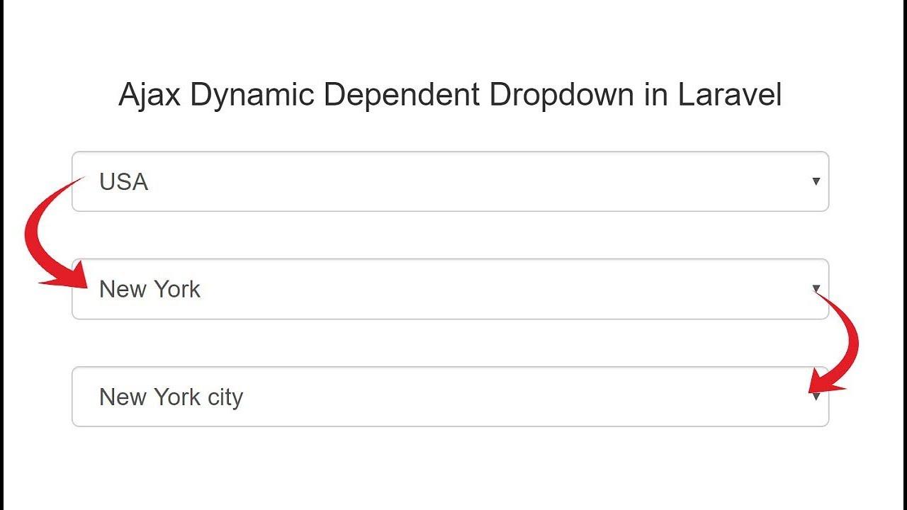 Laravel Dynamic Dependent Dropdown using Ajax