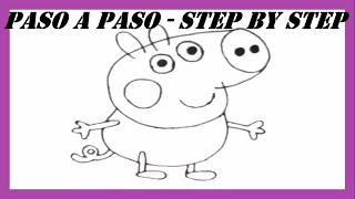 Como dibujar a George Cerdito l How to draw George Pig l Peppa Pig