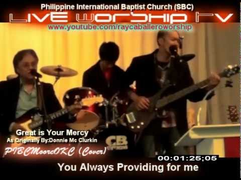 Great is your Mercy  Worship Video /Lyrics on Screen + Guitar Chords(PIBCMooreOKC) HD-Cover