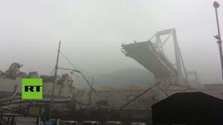 🔴 PRIMERAS IMÁGENES 🔴  Decenas de muertos tras derrumbe de un puente en Italia thumbnail