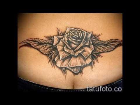 Значение тату на копчике — фото примеры готовых татуировок (видео)