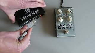 Control pedals with MIDI over USB