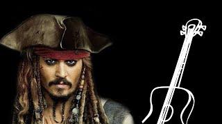 Пираты Карибского моря на гитаре (урок с табами)