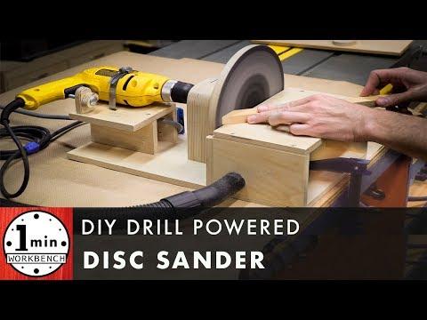 DIY Drill Powered Disc Sander