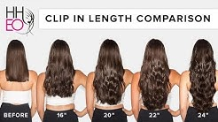 Clip In Hair Extensions Length Guide | HHEO