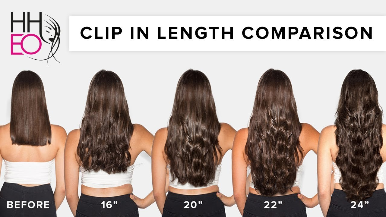 Clip In Hair Extensions Length Guide Hheo Youtube
