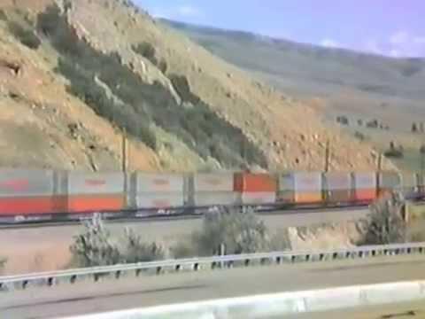 UP eastbound train at Henefer, July 24, 1985