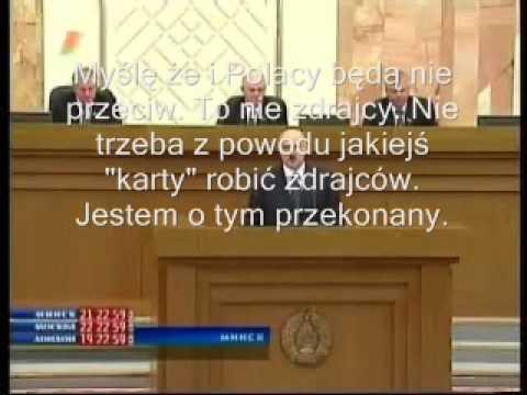 Łukaszenko o Polakach