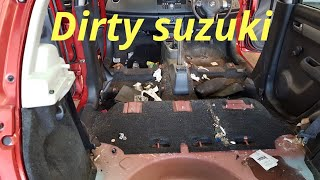 Cleaning a really dirty car - suzuki swift