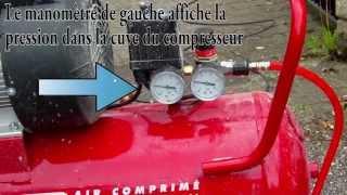 Clé à choc / clé à cliquet pneumatique sur compresseur air Prodif 50l - Outils Compresseur air