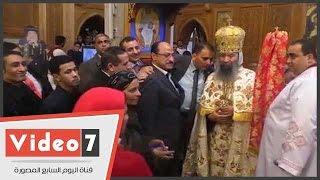 المسلمون يهنئون الأنبا بسنتى أسقف حلوان و المعصرة بعيد الميلاد بكنيسة العذراء
