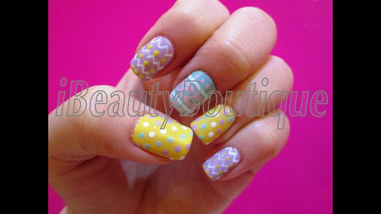 Easy easter nails nail art ibeautyboutique youtube easy easter nails nail art ibeautyboutique prinsesfo Choice Image