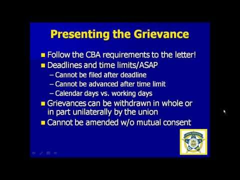 Grievances and Arbitration