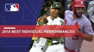 Best 2018 MLB Individual Performances