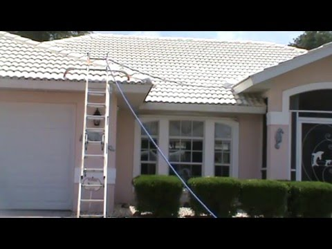 how to pressure clean a roof