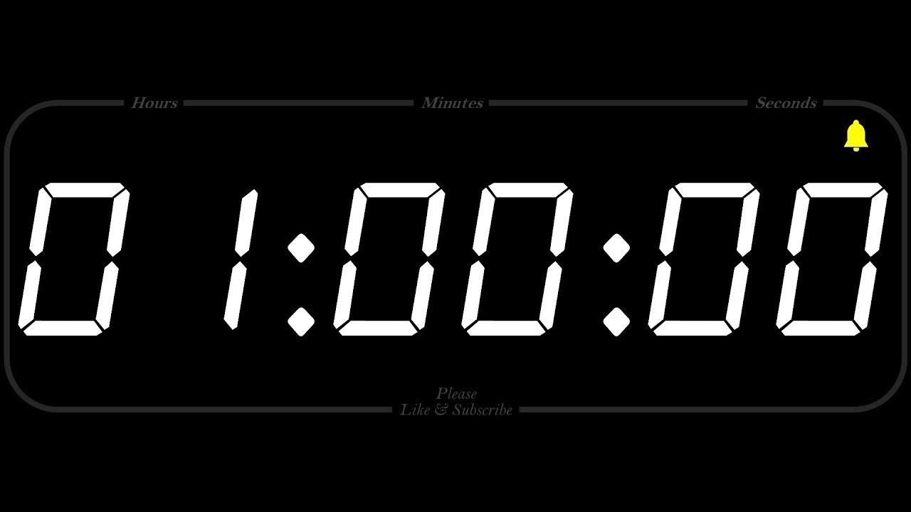 1 hour timer alarm 1080p countdown youtube