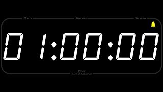 1 Hour - TIMER & ALARM - 1080p - COUNTDOWN
