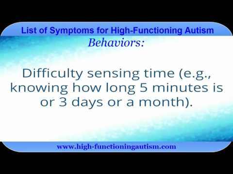 Comprehensive List of Symptoms of High-Functioning Autism
