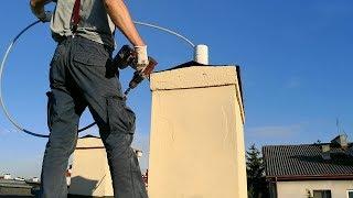 Czyszczenie komina bez kuli, liny i szczotki? Czyszczenie komina wkrętarką, lancą i głowicą