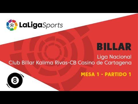 Liga Nacional de Billar | Club Billar Kalima Rivas vs CB Casino de Cartagena | Mesa 1 - Partido 1