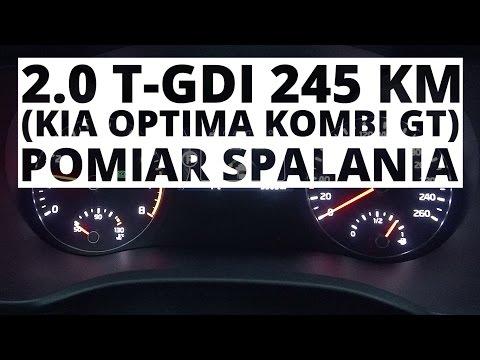 Kia Optima Kombi GT 2.0 T-GDI 245 KM (AT) - Pomiar Zużycia Paliwa
