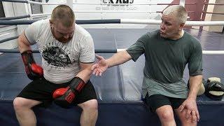 Тренер разнес Дацика / Тренировка перед боем против Жерома Ле Баннера