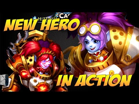 Битва Замков, Новый герой Тесса в действии, ИМБА??? New Hero  Mechtessa In Action, Castle Clash