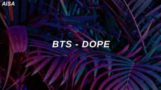 BTS (방탄소년단) - 'Dope (쩔어)' Easy Lyrics