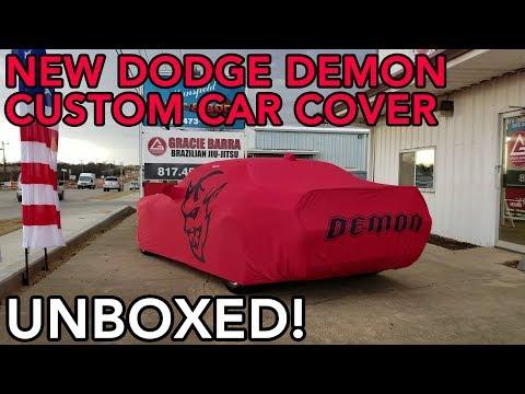Dodge Demon Custom Car Cover UNBOXING!