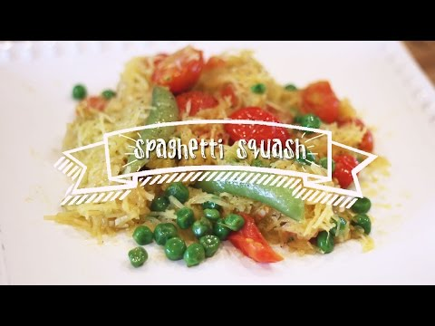 Healthy Recipes   Spaghetti Squash with Tomatoes and Peas