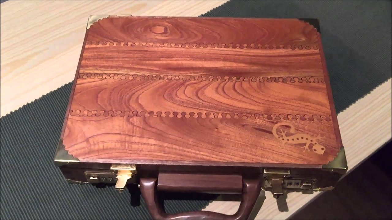 Wooden Briefcase - YouTube