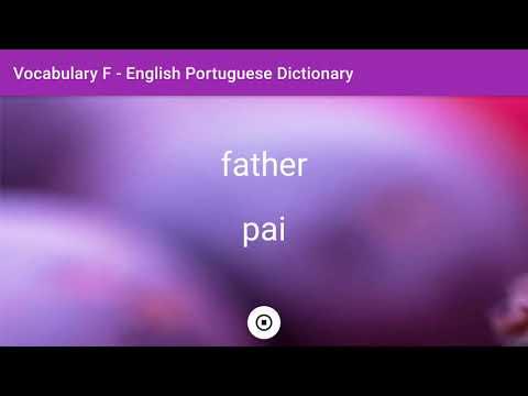 English - Portuguese Dictionary - Vocabulary F