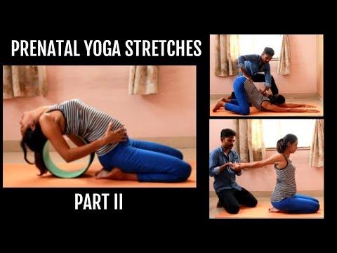 Prenatal Yoga Stretches - Part II | Dhivyam Yoga | Yoga in Pregnancy