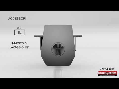 Inoxsystem® Linea 1050 Canale di scarico in acciaio inox per pavimenti