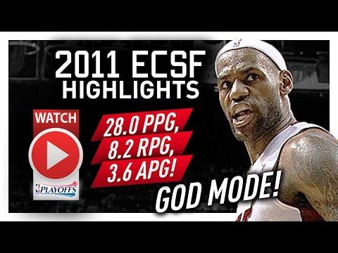 LeBron James ECSF Offense Highlights VS Celtics 2011 Playoffs - GOD MODE!