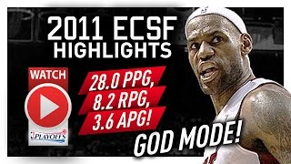 Throwback: LeBron James ECSF Offense Highlights VS Celtics 2011 Playoffs - GOD MODE!