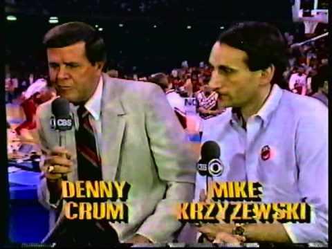 1987 Jim Nantz Interviews Denny Crum Mike Krzyzewski; James Brown Rick Pitino