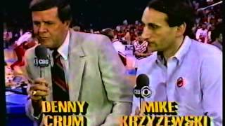 1987 Jim Nantz Interviews Denny Crum Mike Krzyzewski; James Brown Rick Pitino