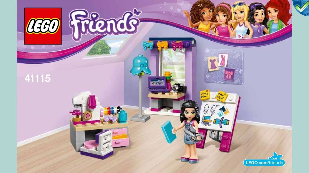 41115 Emma S Creative Workshop Lego Friends Manual At The Brickmanuals Instruction Archive Youtube