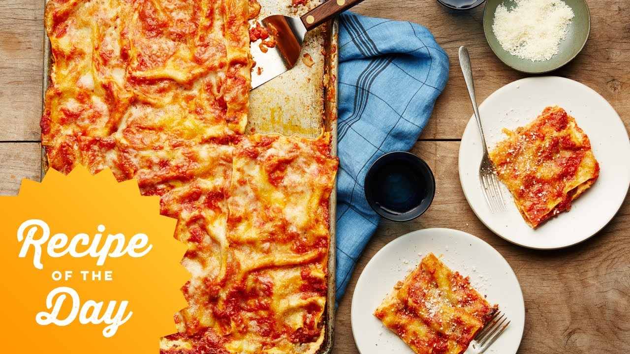 Recipe of the day all crust sheet pan lasagna food network youtube recipe of the day all crust sheet pan lasagna food network forumfinder Image collections