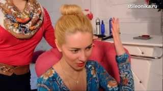СТИЛЕОНИКА:Волосы-как сделать пучок (кичку) самой себе(МОЙ БЛОГ: www.stileonika.ru Ролик с алгоритмом, как самой себе сделать красивый и очень актуальный сейчас вариант..., 2013-02-18T10:27:34.000Z)
